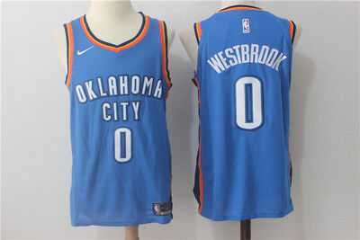 Nba Russell Westbrook Oklahoma City Thunder New Jersey #0 Swingman Jersey White