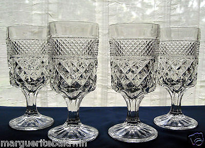 Anchor Hocking Glass 4 Clear Wexford 10 oz Water Goblets