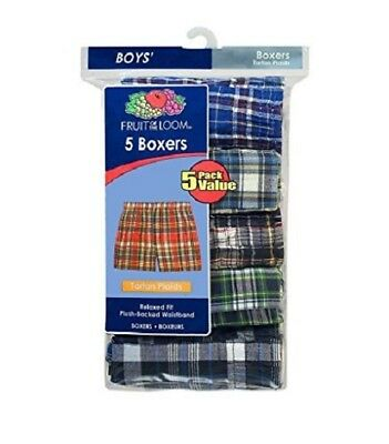Fruit of the Loom Boys' Assorted Cotton Blend Boxer Shorts 5-Pack