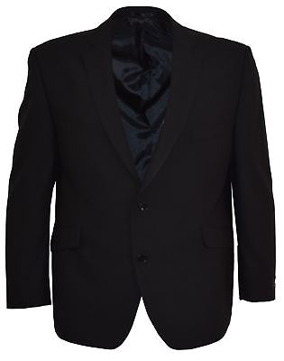 SCOTT Mens Classic Fit Plain Black Jacket