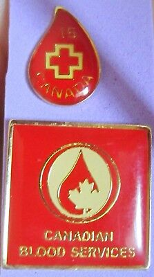 Red Cross Canadian Blood Service  pins