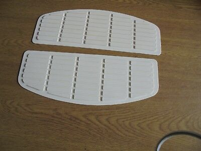 harley davidson parts - Pair white rubber footboard mats
