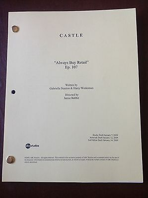 "CASTLE TV SHOW Script ""ALWAYS BUY RETAIL"" Episode #107, 59 Page NATHAN FILLION"
