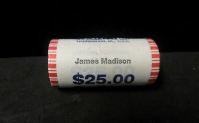 Roll of 2007 James Madison Presidential Dollars - Unopened Bank Wrapped
