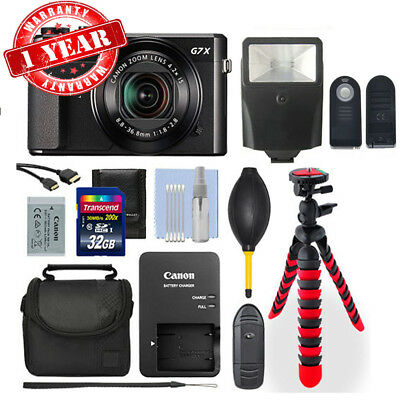 Canon Powershot G7x Mark II 20.1MP Digital Camera Deluxe Accessory Package