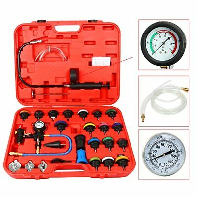 8milelake 28pcs Universal Radiator Pressure Tester and Vacuum Type Cooling Syste