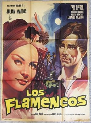 Los flamencos 1968 Pilar Cansino Org Mexican Movie Poster 474