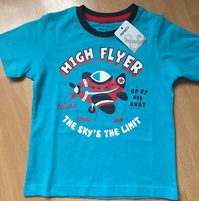 BN Boys Blue Top 'high flyer' Motif, Assorted Sizes Free Postage