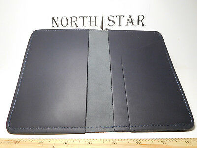 North Star Navy Top-Stub Premium Grain Leather Checkbook Cover-Made In USA #131