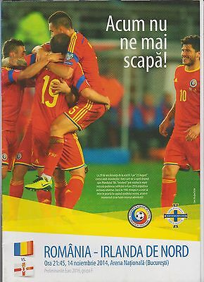 Programme ROMANIA vs NORTH IRELAND  - 14/11/2014
