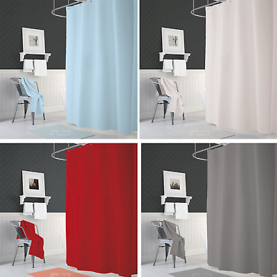 Narrow Width, Bespoke Size Bathroom Fabric Shower Curtain 90cm Wide x 190cm Drop
