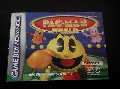 PAC-MAN WORLD Nintendo GameBoy Advance GBA *INSTRUCTION BOOKLET ONLY*