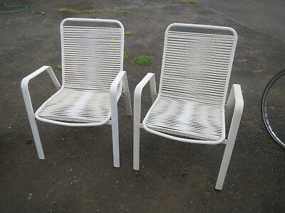 Mid Century Vinyl Cord Patio - Garden - Lounge Chairs - HOMA Made in Denmark
