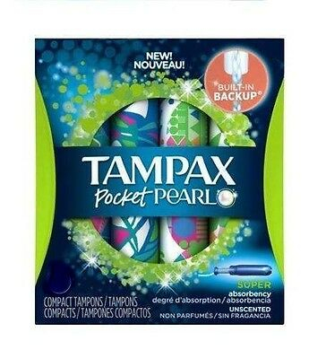 70pcs Tampax Pocket Pearl Super Compact Applicator Tampons ☆ F