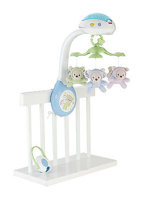Calming Baby Toy for Cot Hanging Carousel with Plush Bears Night Light Sleep Aid