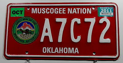 "USA Nummernschild Indianer ""MUSCOGEE NATION"" Oklahoma. 8493."