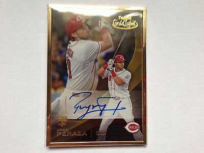Jose Peraza 2016 Topps Gold Label Rookie RC Autograph Goldframed