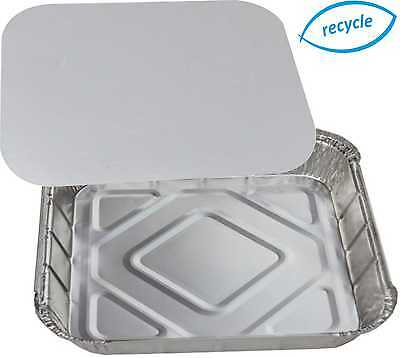 """9"""" Square Foil Trays Dishes Catering Containers Tray Bake Casserole Cake Tins"""