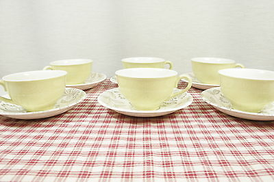 6 Vintage Mid Century Grindley ROMANCE Cup and Saucer Sets.