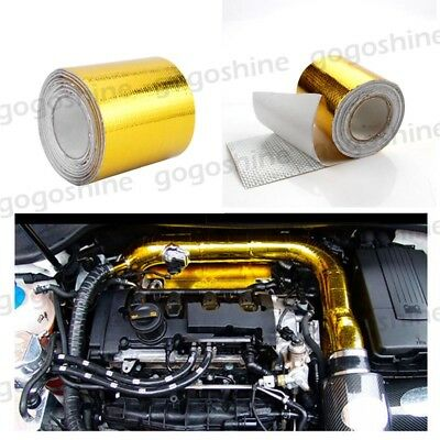 14.7ft Gold Car Motorcycle Exhaust Pipe Header Heat Wrap Resistant Downpipe