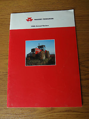 Massey Ferguson 1990 Annual Review Magazine Collectible