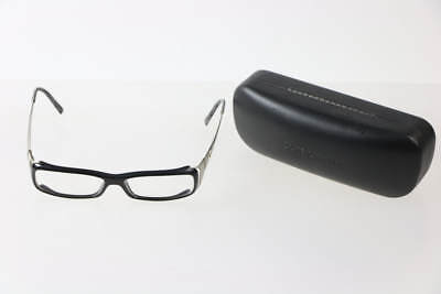Dolce & Gabbana Black Silver Glossy Rectangular Spectacle Glasses W/ Case