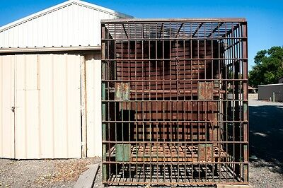 1800's Steel Jail Cell with 2 Beds is a Great Piece of Cowboy Old West History