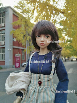 1/4 bjd sd doll big eyes girl dolls 43cm tall resin free eyes with face make up