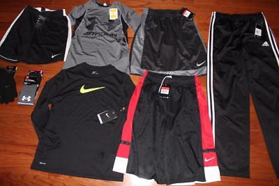 Boys Under Armour Lot Nike Basketball Shorts Adidas Pants Gloves Socks Large Nwt