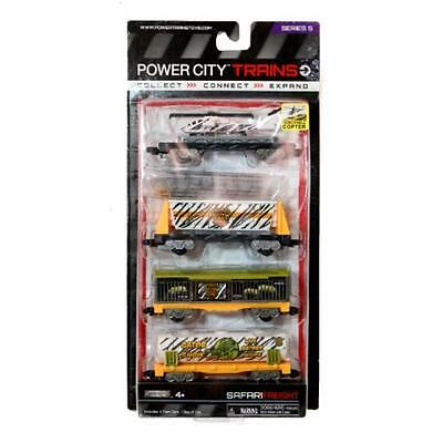 Power Trains Safari Freight 4 Car Pack New In Package