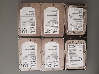 "Lot of 6x 73gb 15K 3.5"" sas HDD"