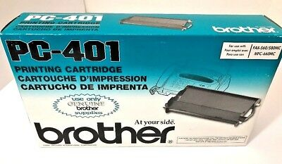 Brother PC-401 Ribbon Printing Cartridge 560 / 580MC / MFC-660MC New In Box