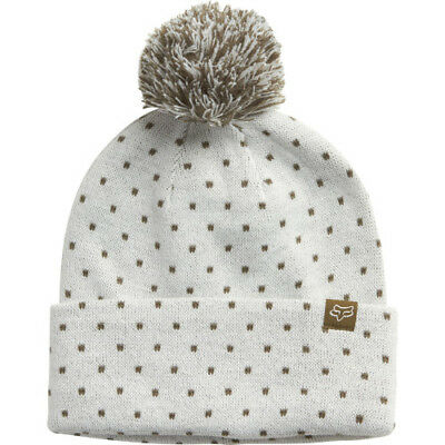 Fox Racing Snow Bunny Womens Headwear Beanie Hat - White One Size