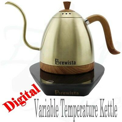 Brewista Artisan Champagne Gold Variable Temperature Pour Over Coffee Kettle