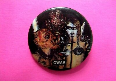 Gwar Official Vintage Button Badge Pin Us Made