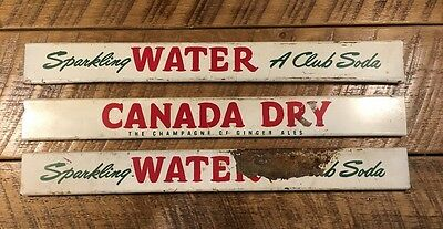 Three Original Canada Dry World Famous Beverages Ginger Ale Soda Pop Metal Signs