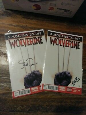 Wolverine #8  3 months to die signed by Kris Anka Steve Mcniven