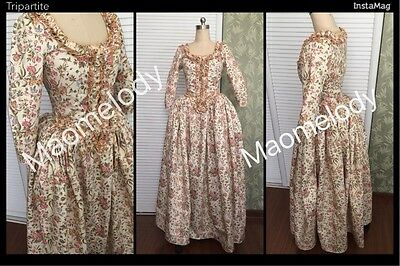 18th Century Marie Antoinette Colonial Gown Polonaise Dress Costume Zhmg