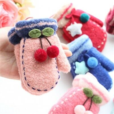 New Cheap Baby Kids Warm Gloves Cute Girl Boy's Knitting Mittens Christmas Gifts