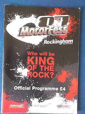 Motorfest  Setember 2007 Programme. Held at Rockingham. Map insert included.