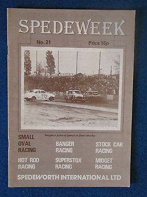 Spedeweek July 1977 Programme No 21. Produced by Spedeworth International.