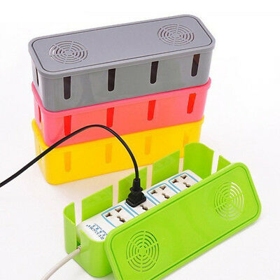 Useful Cable Storage Box Wire Management Socket Safety Tidy Organizer Home Room