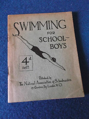 Swimming for Schoolboys paperback book 1935?
