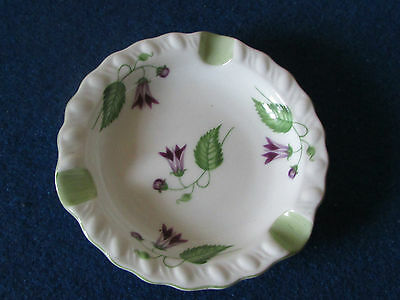 Vintage Shelley Bone China Ashtray - Campanula Pattern