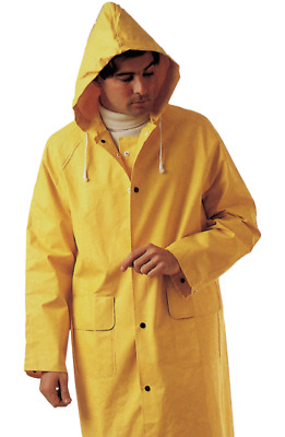Impermeabile Lavoro Pvc Pesante Giacca Giallo L Maurer D