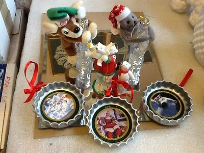 Six Assorted Coca-Cola Ornaments