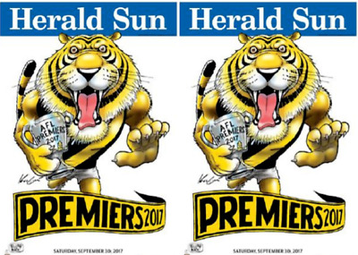 2017 AFL PREMIERS GRAND FINAL RICHMOND TIGERS WEG PREMIERSHIP-2 Posters