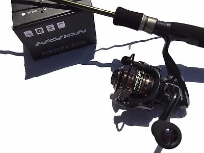 fishing rod and reel carbon spin combo G C Benders 210 rod & 2000 reel braid