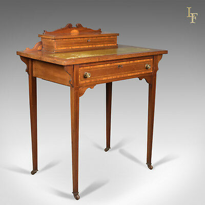 Edwardian Antique Writing Table, Top Quality Desk, London, England Cooper & Holt