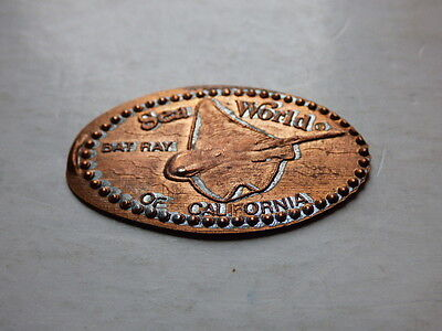 Collectable Pressed Penny * Sea World of California * Bay Ray Design *